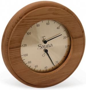 Термогигрометр SAWO  круг, кедр, арт. 231-THD