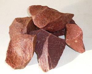 Камень кварцит малиновый колотый, 20 кг