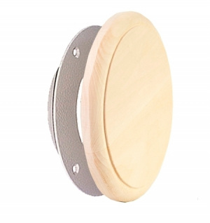 Клапан вентиляционный тарельчатый IRON, D125, липа
