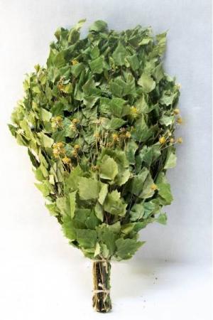 Веник берёзовый с ромашкой в инд. упаковке